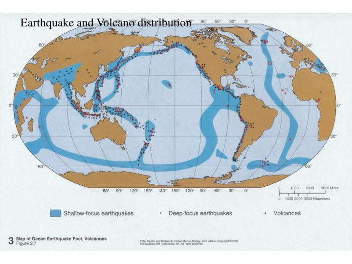 Earthquake and Volcano distribution