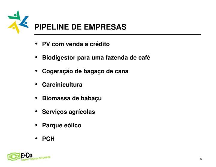 PIPELINE DE EMPRESAS