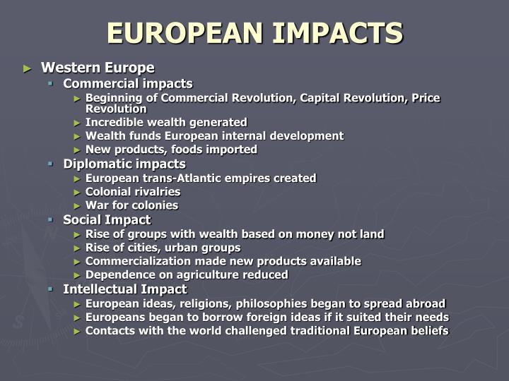 EUROPEAN IMPACTS