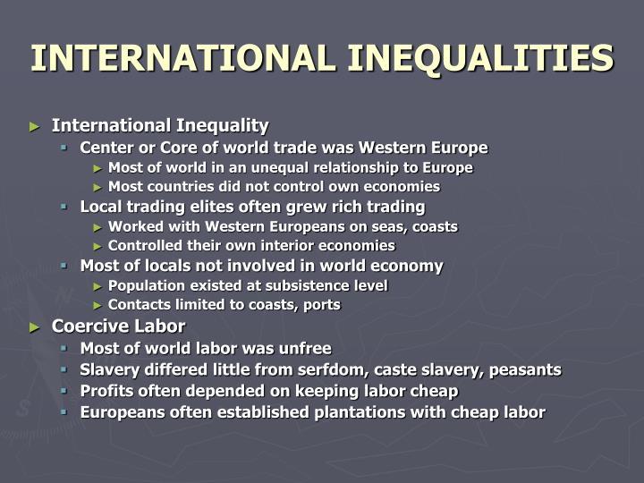 INTERNATIONAL INEQUALITIES