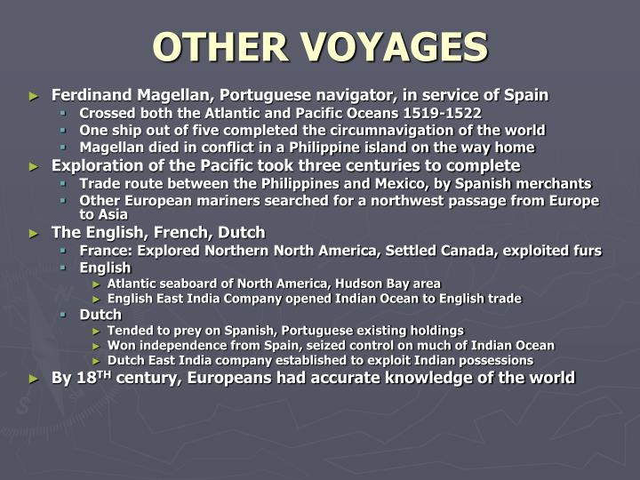 OTHER VOYAGES