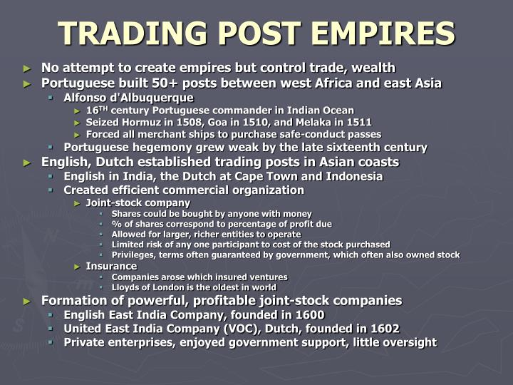 TRADING POST EMPIRES