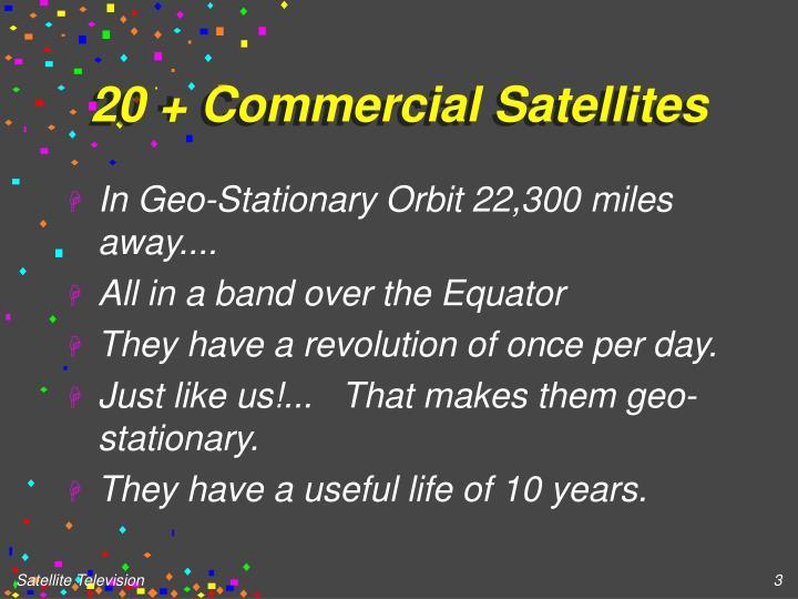 20 + Commercial Satellites