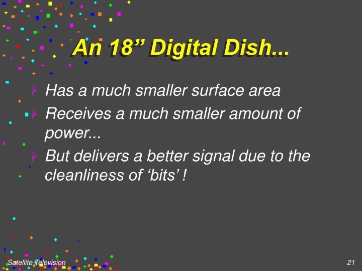 "An 18"" Digital Dish..."