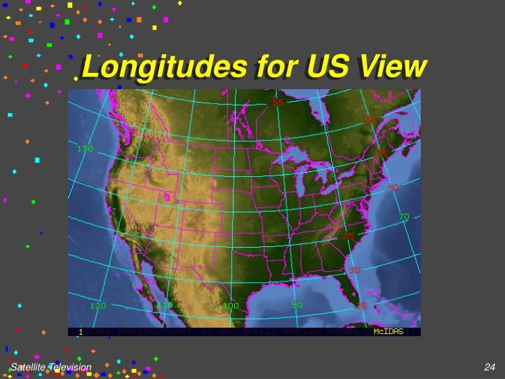 Longitudes for US View