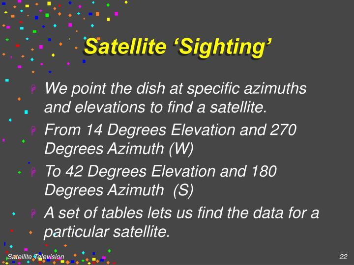 Satellite 'Sighting'