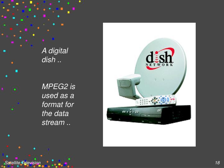 A digital dish ..