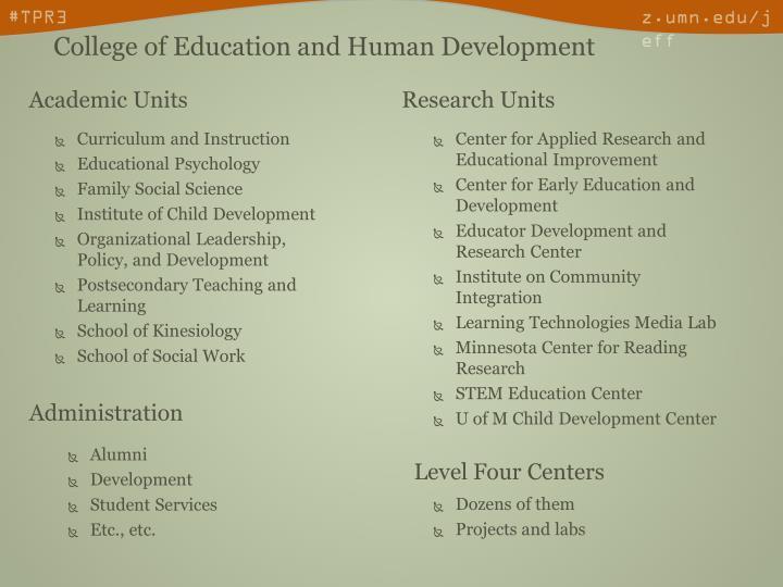 Academic Units