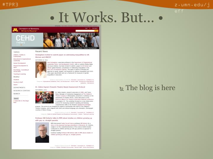 The blog is here