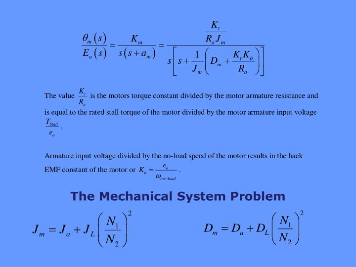 The Mechanical System Problem