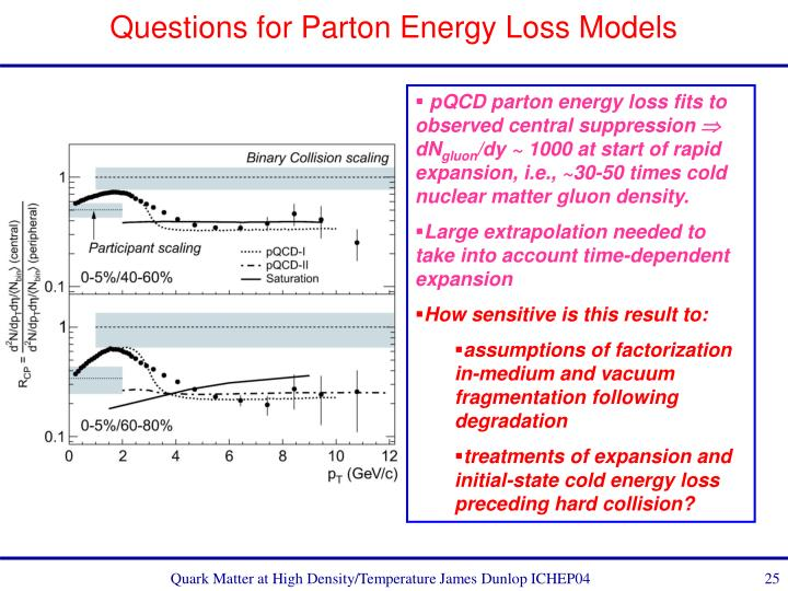 Questions for Parton Energy Loss Models