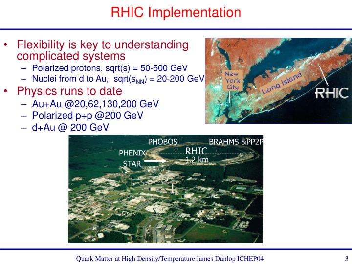 Rhic implementation