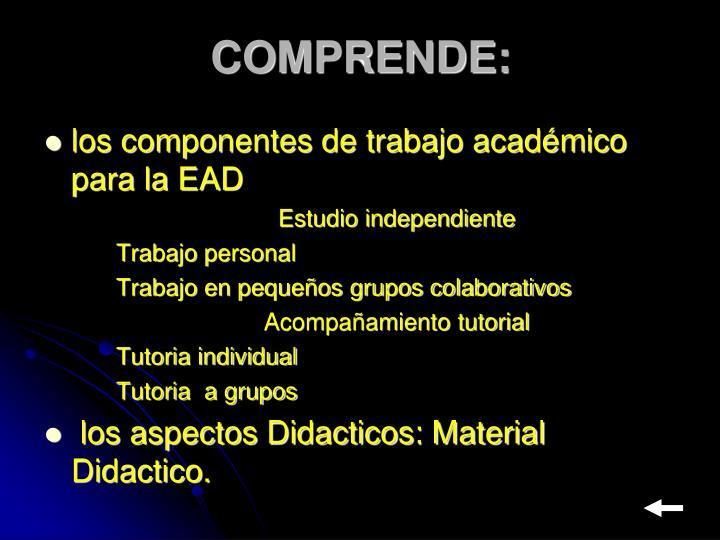 COMPRENDE:
