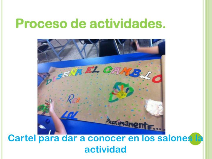 Proceso de actividades