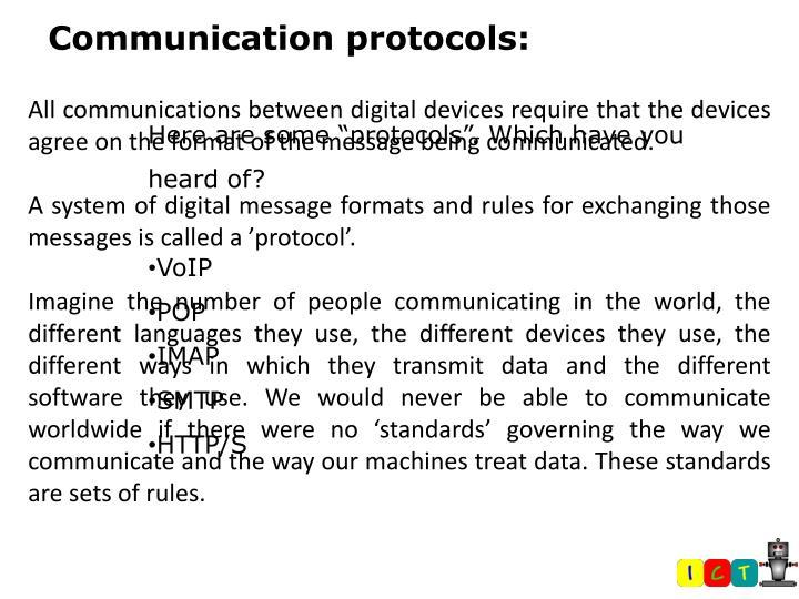 Communication protocols: