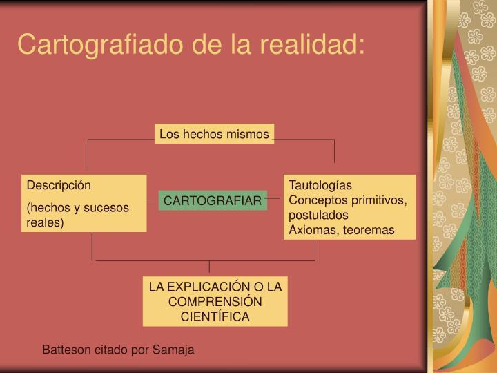 Cartografiado de la realidad: