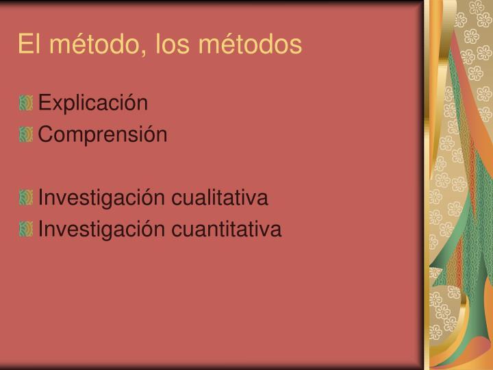 El método, los métodos