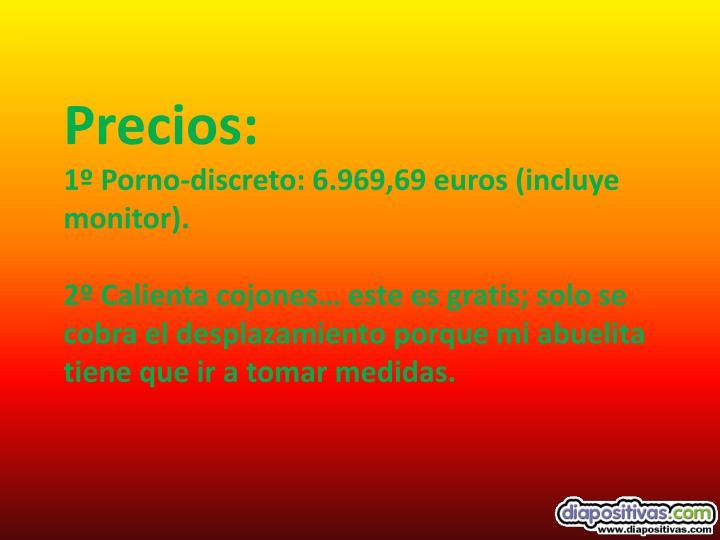 Precios: