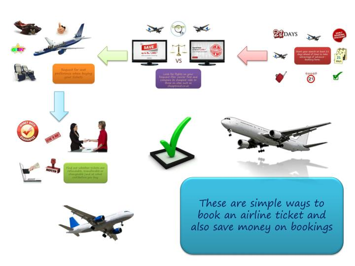 These are simple ways to book an airline ticket and also save money on bookings