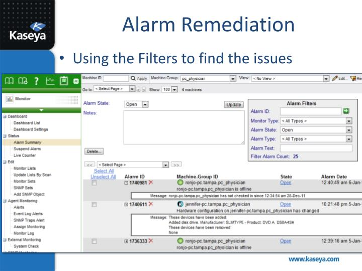 Alarm Remediation