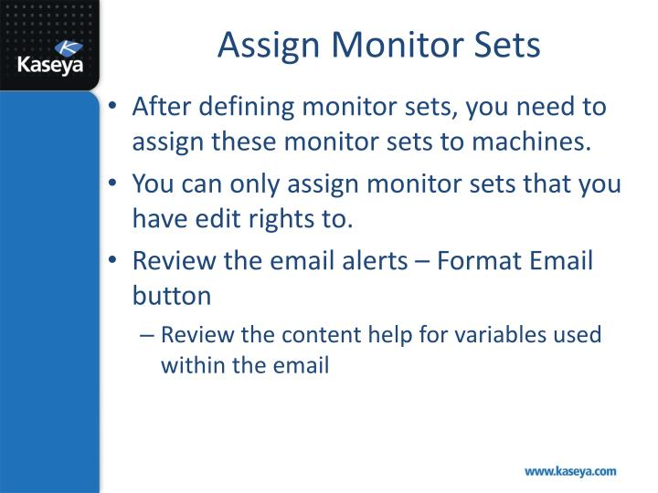 Assign Monitor Sets