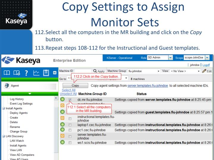 Copy Settings to Assign