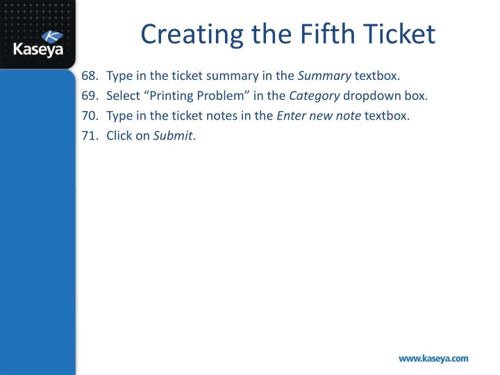 Creating the Fifth Ticket