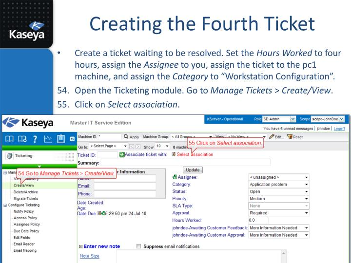 Creating the Fourth Ticket