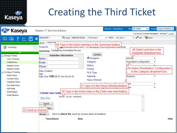 Creating the Third Ticket