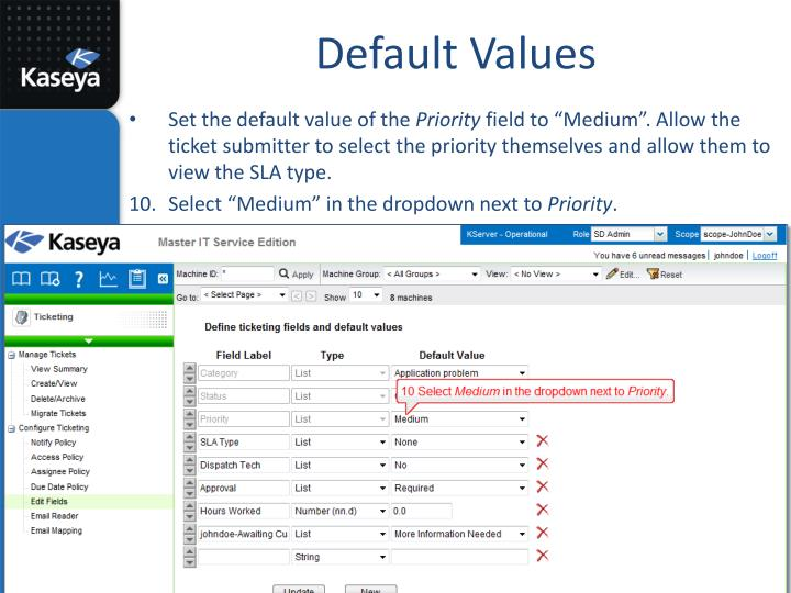Default Values