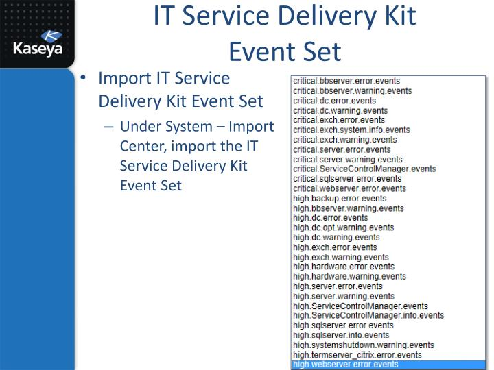 IT Service Delivery Kit