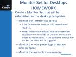 monitor set for desktops homework