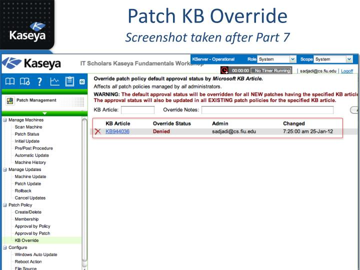 Patch KB Override
