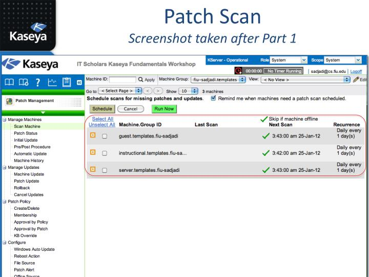 Patch Scan