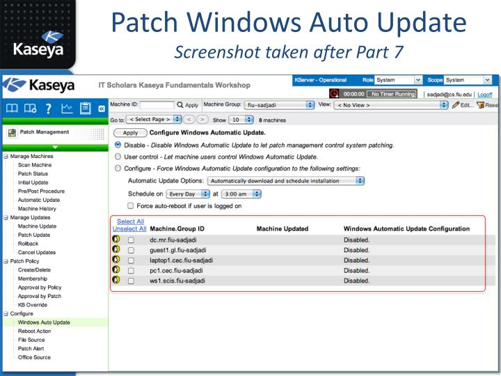 Patch Windows Auto Update