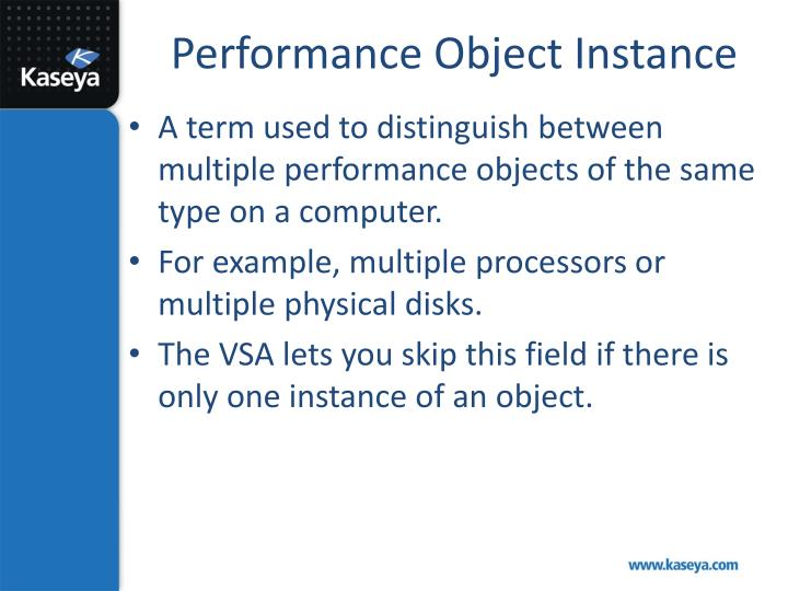 Performance Object Instance