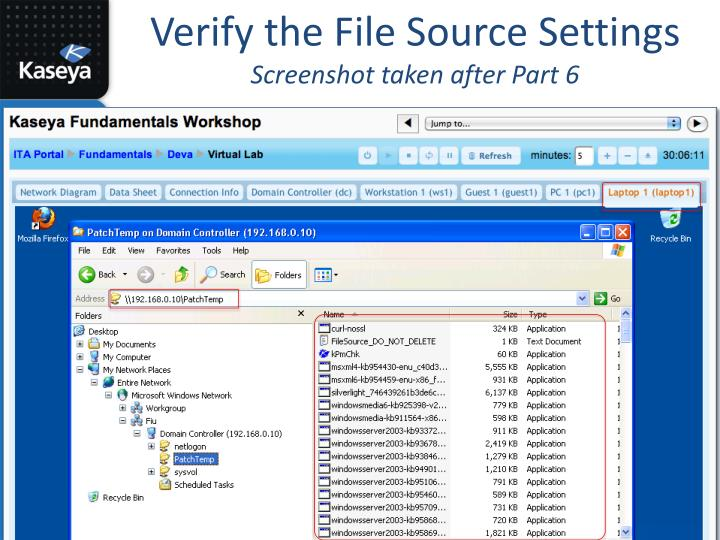 Verify the File Source Settings
