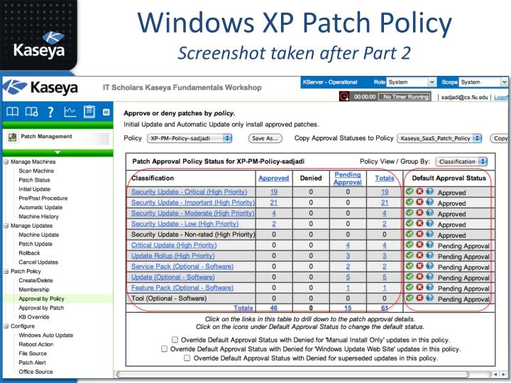 Windows XP Patch Policy