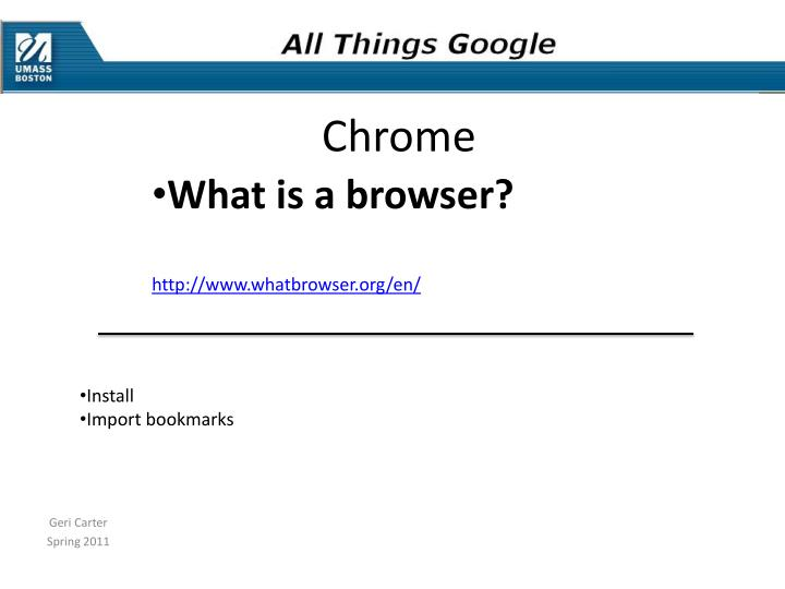 What is a browser?