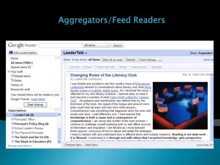 Aggregators/Feed Readers