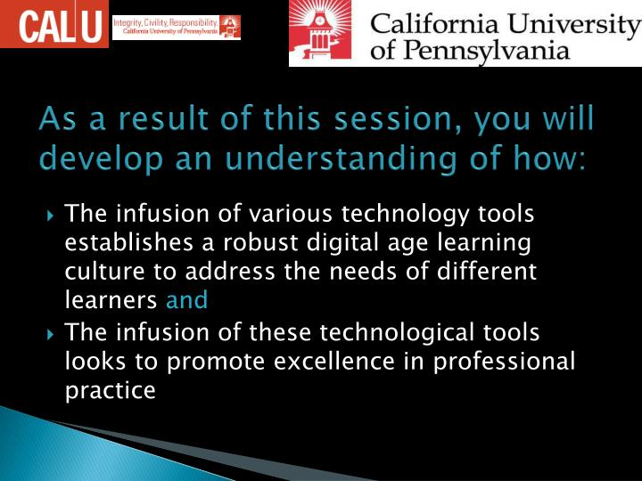 As a result of this session, you will develop an understanding of how: