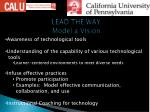 lead the way model a vision