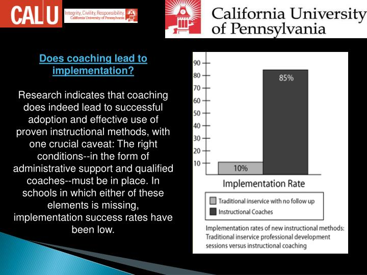 Does coaching lead to implementation
