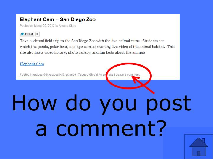How do you post a comment?