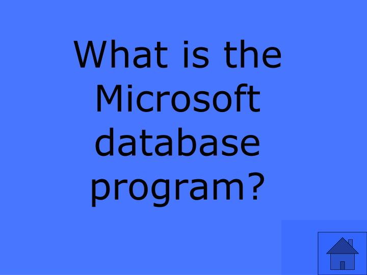 What is the Microsoft database program?