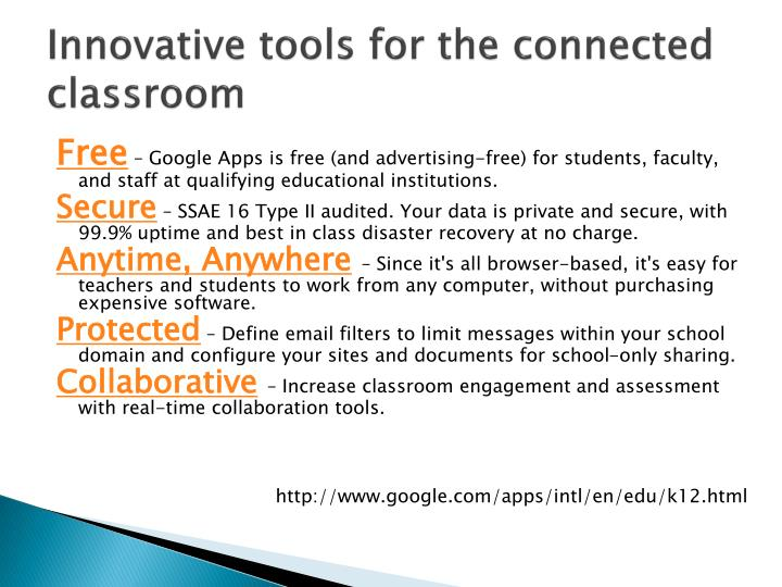 Innovative tools for the connected classroom