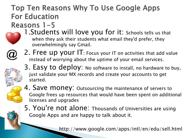 Top Ten Reasons Why To Use Google Apps For Education