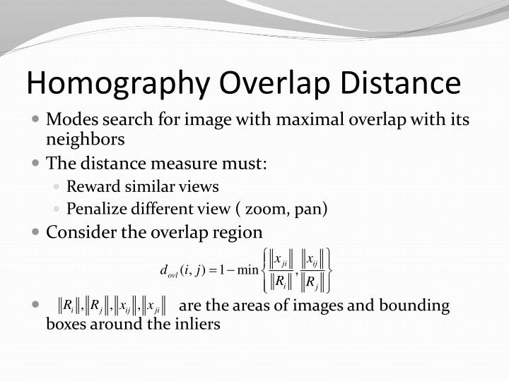 Homography Overlap Distance