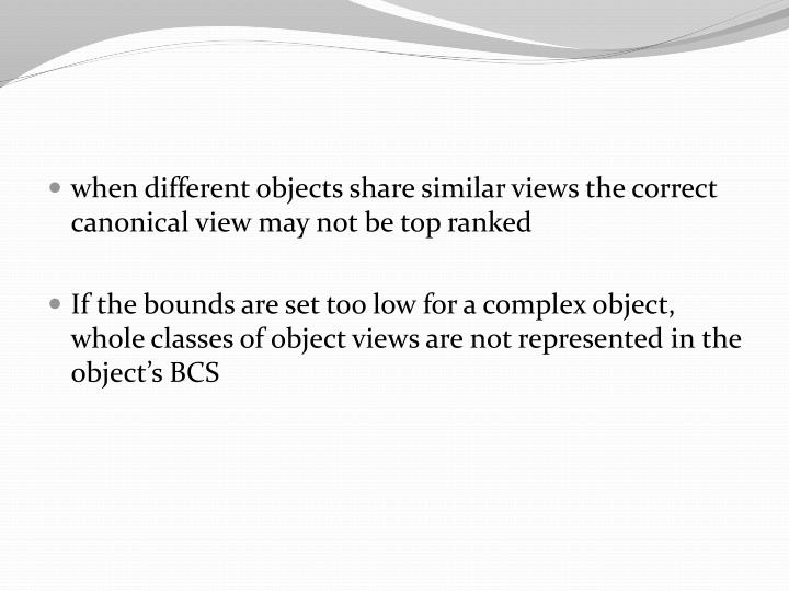 when different objects share similar views the correct canonical view may not be top ranked