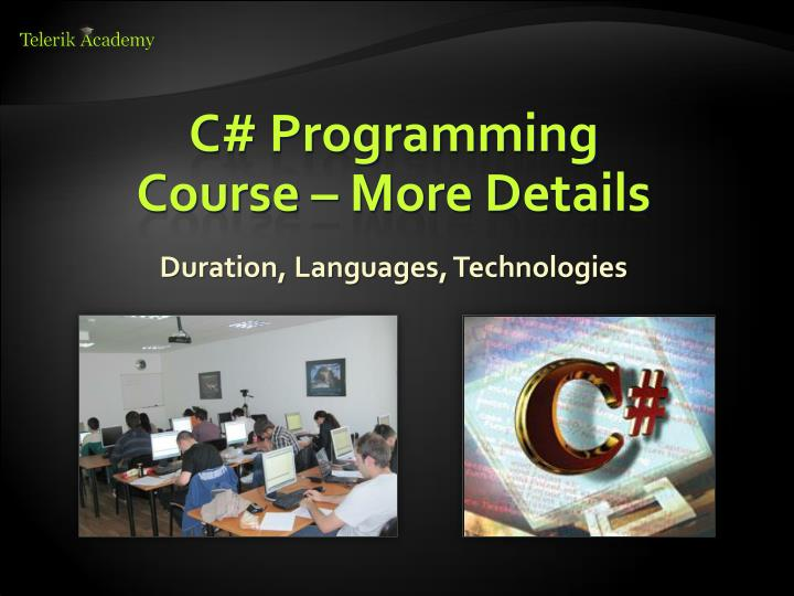 C# Programming Course – More Details